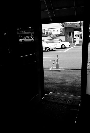 Quiet day at work... Busy on the street. 5/366 IPhoneography Mobilephotography Streetphotography Street Blackandwhite Traffic Reflection Door Car 365project Better Look Twice IPS2016Street The Street Photographer - 2016 EyeEm Awards