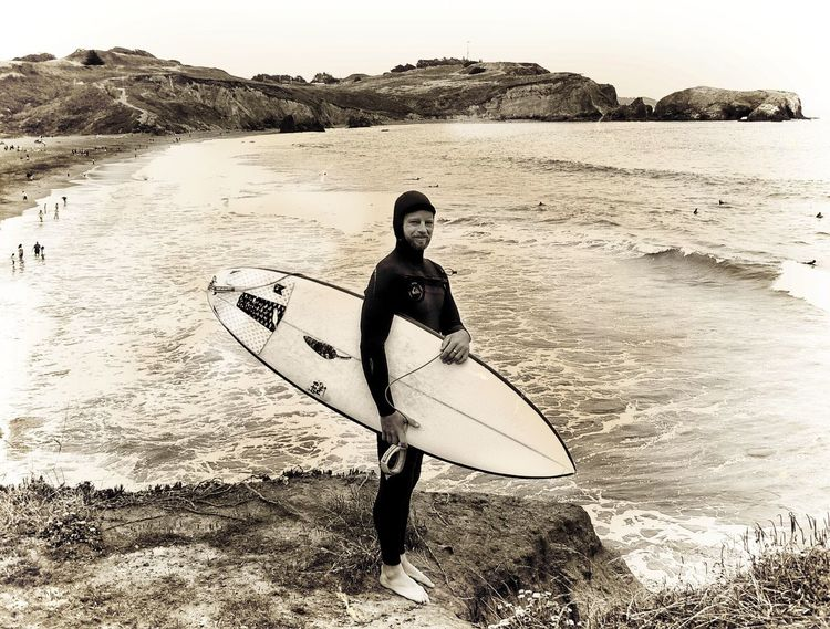 The Surfer Beach Surfboard Surfing One Person Sea Adventure Sand Sport Portrait Adult Vacations Only Women Outdoors Day Nature People One Woman Only Full Length Adults Only Young Adult Lifestyle Ft. Cronkite Beach Marin County CA Ian The Great