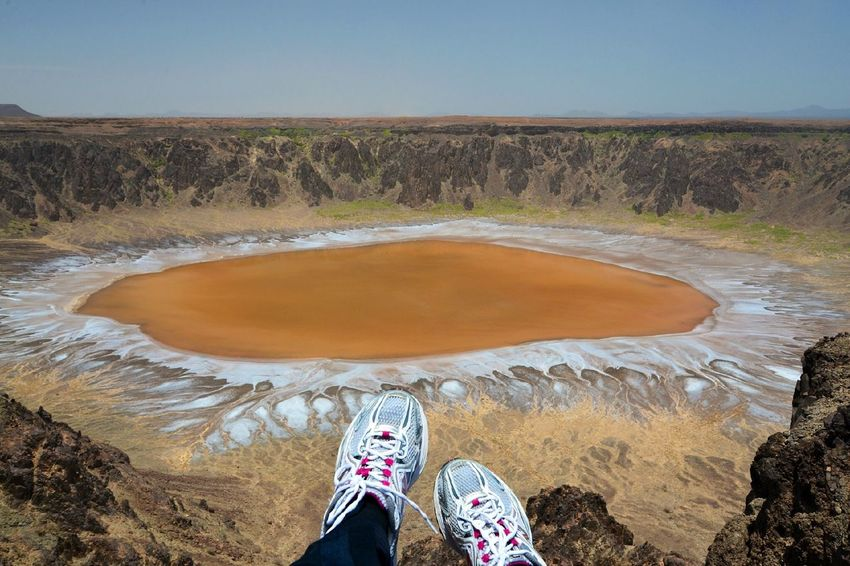 National Park, Al Wahba crater (Maqla Tamia in Arabic) is 254 km from Taif on the western edge of the Harrat Kishb basalt plateau, which contains many volcanic cones. It is 250 m (820 ft) deep and 2 km (1.2 mi) in diameter. The bottom of the crater is covered with white sodium phosphate crystals. More info on Wikipedia. EyeEm Best Shots The Explorer - 2014 EyeEm Awards Al Wahba National Park Saudi Arabia