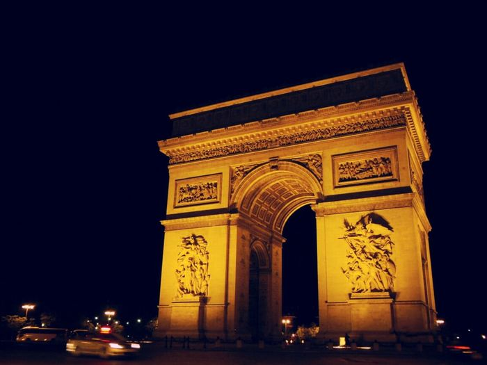Photo taken in Paris. Travel Night Photography Light And Shadow
