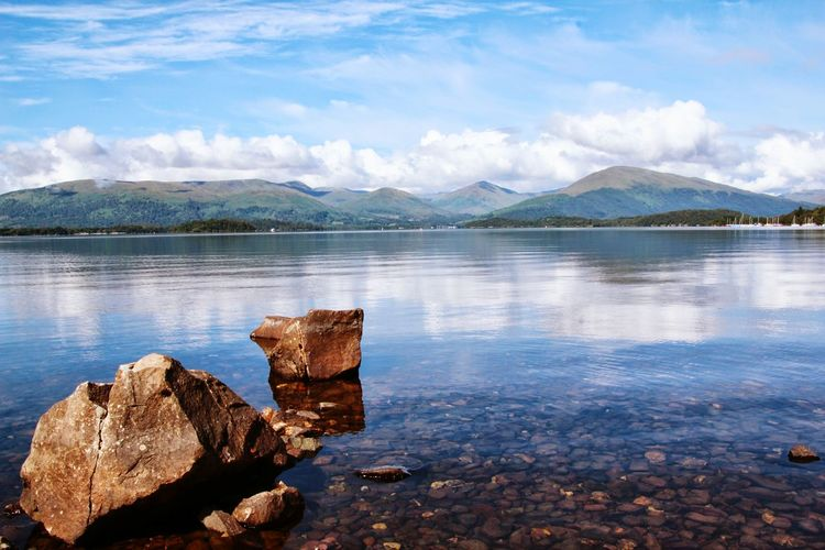 Scenic View Of Loch Lomond Against Sky