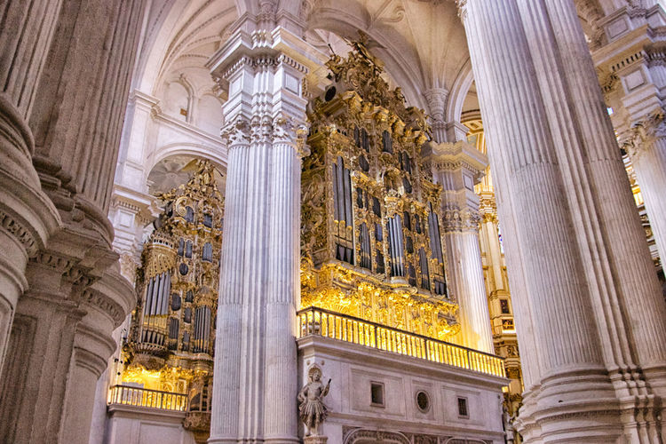 Catedral de Granada Built Structure Architecture Religion Place Of Worship Architectural Column The Past History Belief Travel Destinations Low Angle View Building Exterior Spirituality No People Building Arch Ornate Ceiling