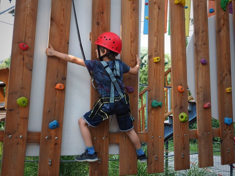 Mut Safety First! Safety Portrait Outdoors Dangerous Climbers Climber Slope Climbing Helmet Boy Kid
