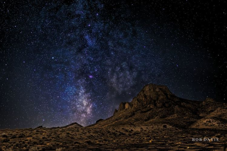 Astronomy Astrophotography Beauty In Nature Environment Galaxy Idyllic Land Landscape Majestic Milky Way Mountain Mountain Range Nature Night No People Outdoors Scenics - Nature Sky Space Star - Space Stars Tranquil Scene Tranquility