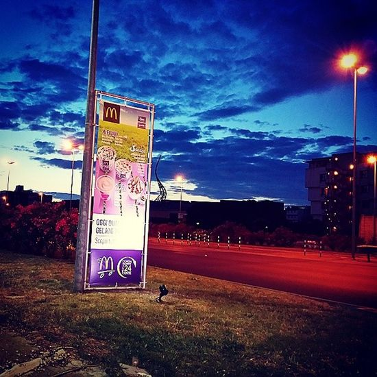 McDonald Mcdrive Italy Tuscany prato night skyinstapics street