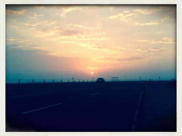 SunsetSky Traveling Landscape