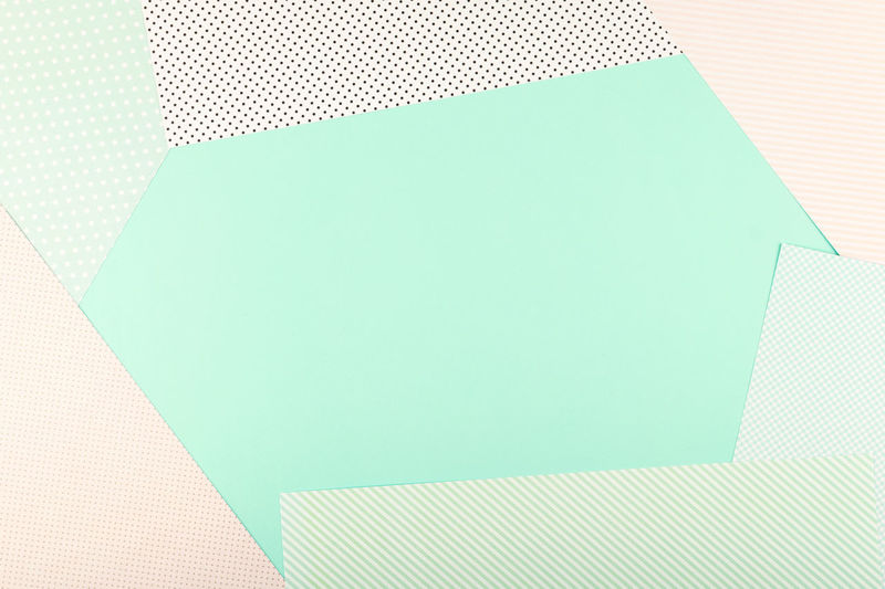 High angle view of an empty paper