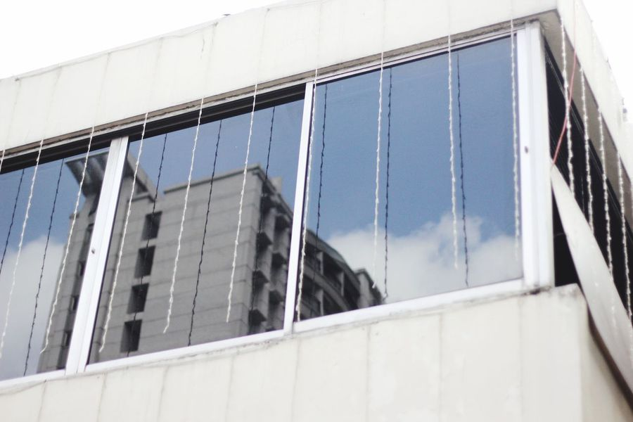Minimalist Architecture Building Office Reflection Mirror Window Bandung INDONESIA Noon Cloud Minimalist Architecture
