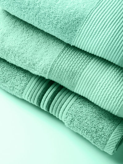 Close-up of towel on white background