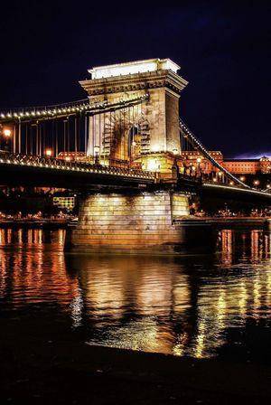 Budapest Lánchíd Chain Bridge Dnsphotography 2 Architecturephotography Beauty Street Photography Lovecity  Water Night Photography Nikonphotography
