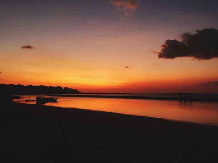 Sunset Water Sky Scenics - Nature Beauty In Nature Tranquil Scene Orange Color