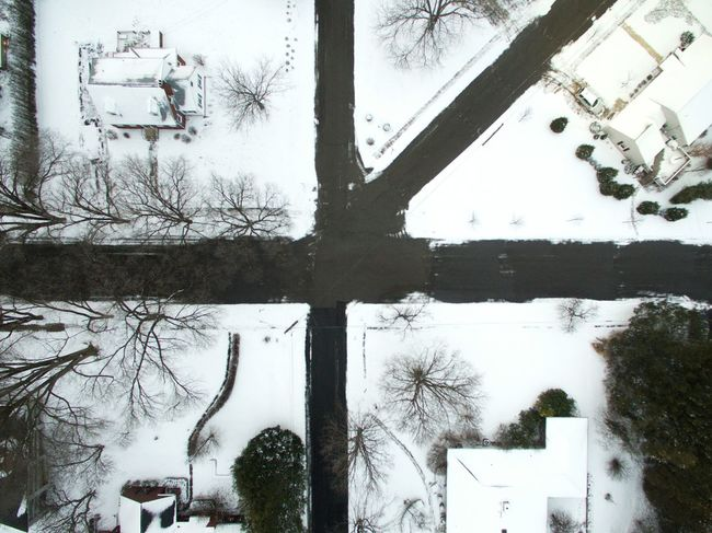 intersecting Street Arial Arialview Arialphotography Winter Abstract Wall Worthy