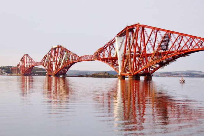 Bridge - Man Made Structure Built Structure Connection Architecture Sky Engineering Transportation Water Railroad Bridge Railway Bridge Forth Bridges Forth Bridge Tourism Edimburgo Edimburgh Escocia Viajar Viaje Tourist Travel City (null)Viajando Transportation Travel Destinations