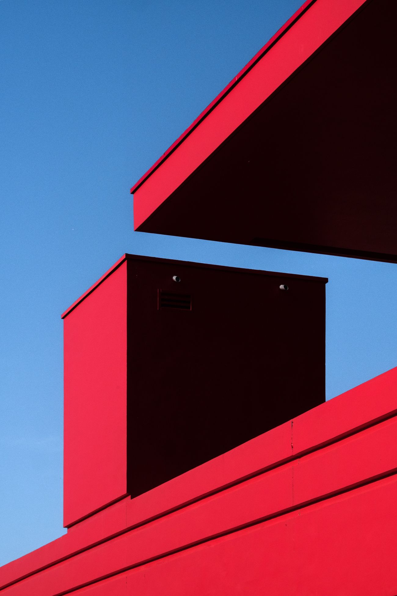 red, architecture, built structure, low angle view, building exterior