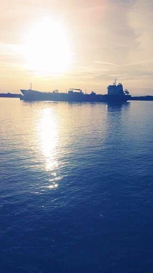 Water Nautical Vessel Sea Sunset Harbor City Silhouette Reflection Sunlight Sky Romantic Sky