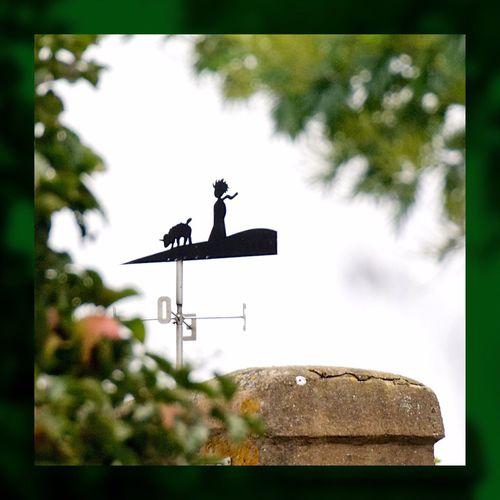 """Girouette du """"Petit Prince"""" dans l'île d'Yeu - France - Girouette  Vane Ventarola Ile D'Yeu Le Petit Prince The Little Prince Saint-Exupéry Antoine De Saint-Exupéry Mouton Sheep"""
