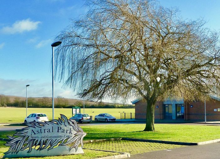 Astral Park Leighton Buzzard Recreation Center Park Grass Car Tree Transportation Land Vehicle Mode Of Transport No People Outdoors Sky Bare Tree Nature Day Architecture