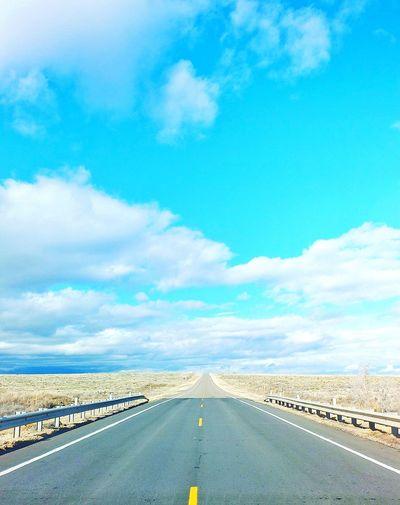 Road passing through empty road