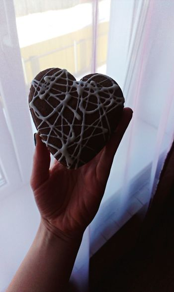 The heart in my hand, happy Valentine's day everyone! Heart Valentine's Day  My View Herz ❤ Love ♥ Sunny Day Goodmorning Food♡