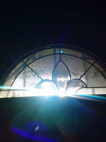 Lens Flare Illuminated Indoors  Sunlight No People Blue Day Close-up