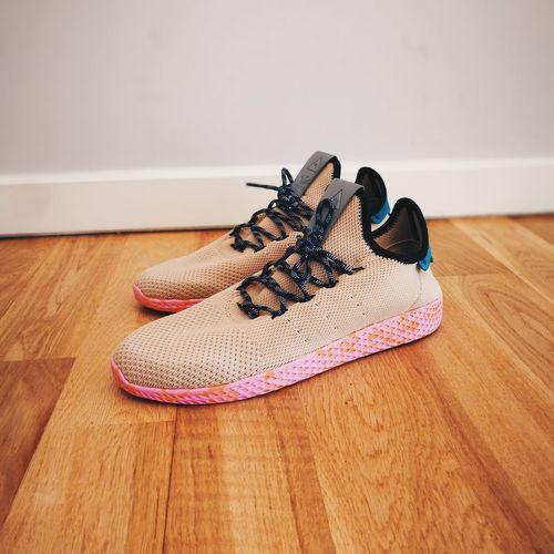 Pharrell Williams Adidasoriginals Adidas Tennis Hu Sneakers Hypebeast  EyeEm Selects Hardwood Floor Home Interior Table No People Close-up Day Fashion Stories
