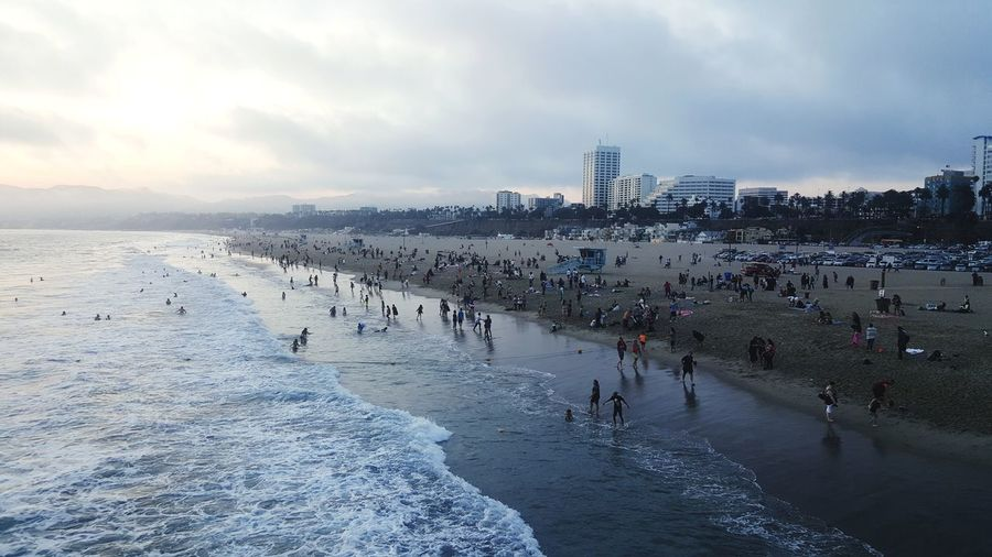 View Of People On Beach