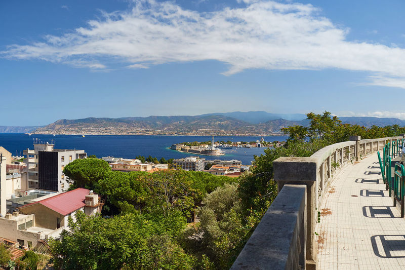View of Messina Holy Macro! Madonna Mediterranean  Sicily Architecture Beauty In Nature Blue Building Exterior Built Structure City Cityscape Cloud - Sky Day Italy Madonna Of Messina Messina Mountain Mountain Range Nature No People Outdoors Scenics Sea Sky Sunlight Town Tree Water