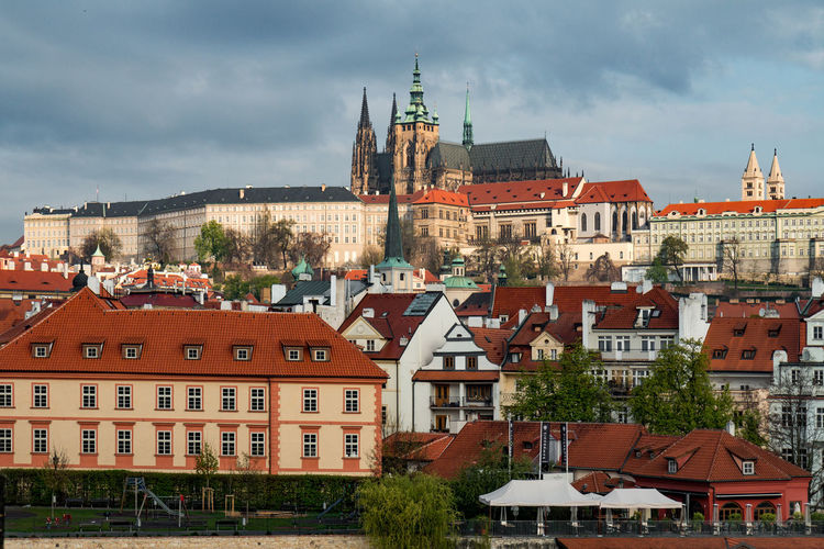 St Vitus Cathedral Cathedral Prague St. Vitus Cathedral Architecture Building Exterior City Cityscape Cloud - Sky Gothic Style Landmark Place Of Worship Religion Roof Spirituality Tower Town