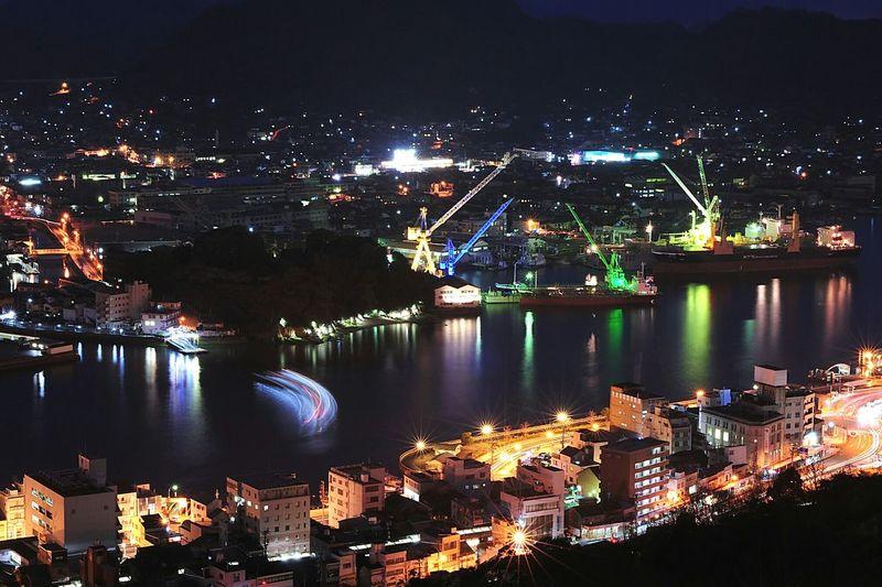 夜の尾道水道 Night View 夜景 渡船 尾道 海 Sea 優しい灯りに癒されます。 Nightphotography Night Lights