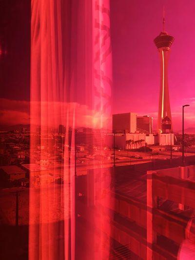 Las Vegas Courtains Colored Window Glasses Built Structure Architecture Illuminated Building Exterior No People Sky Colour Your Horizn City