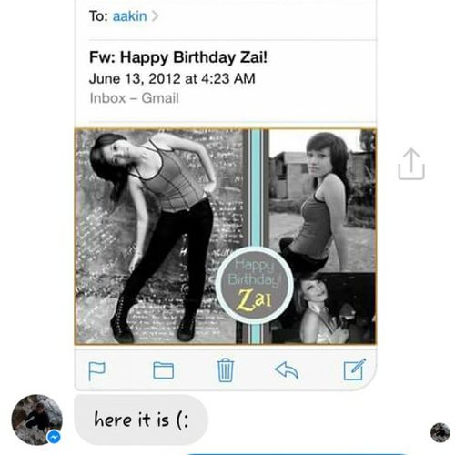 @kathleenosquiza you still keep this in your email? It's been what, 3 years? Holy shit! Haha. Pang-throwback to e. Hehehe. Love you! Throwback Birthdaypost Birthdaygirl