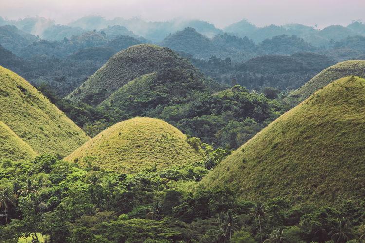 Chocolate hills landscape in philipines