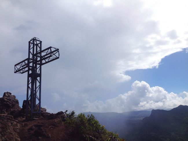 Don't climb that mountain in summer. Le Morne-Mauritius Mauritius Sky Mountain Architecture Clouds Cross Worthit