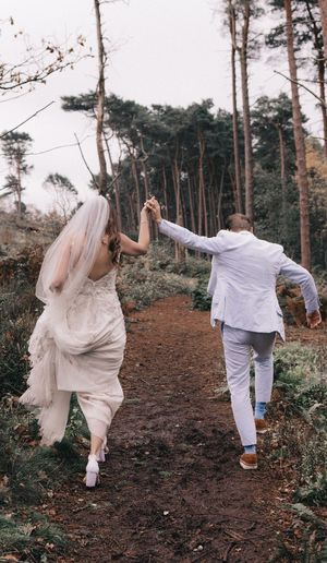 Second Acts Full Length Two People Tree Togetherness Wedding Wedding Dress Women Young Women Bride Day Real People Men Outdoors Young Adult Adult Adults Only People Nature