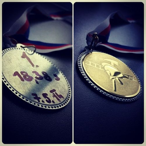 First place!:) 18.38 prvni zavod v dorostu a hned paradni cas:) First Firefighter Firesport 100m runfireteamhappygold