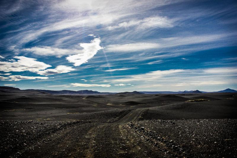 Dunes Iceland Tranquility Volcanoes Adventure Black Sand Black Sands Blue Sky Distance Gravel Gravelroad Gravelroads Highlands Roadtrip Vanlife Volcanic Island Volcanic Landforms Volcanic Landscape The Great Outdoors - 2018 EyeEm Awards The Traveler - 2018 EyeEm Awards A New Beginning
