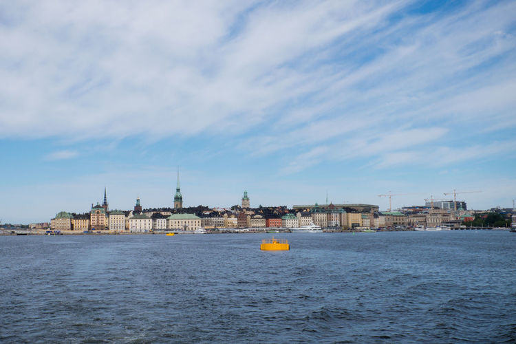 Skyline of Stockholm, Sweden Architecture Blue Sky With Clouds Cityscape Gamla Stan July Landscape No People Skyline Skyline Stockholm Stockholm Travel Destinations Urban Skyline Water Waterfront