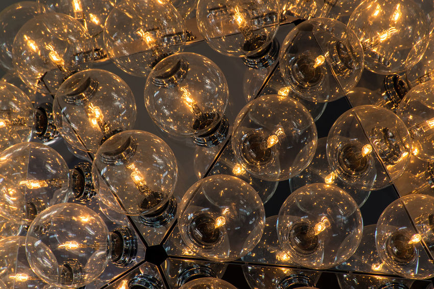 Gold Crystal Electricity  Lamplight Light And Shadow Multiple