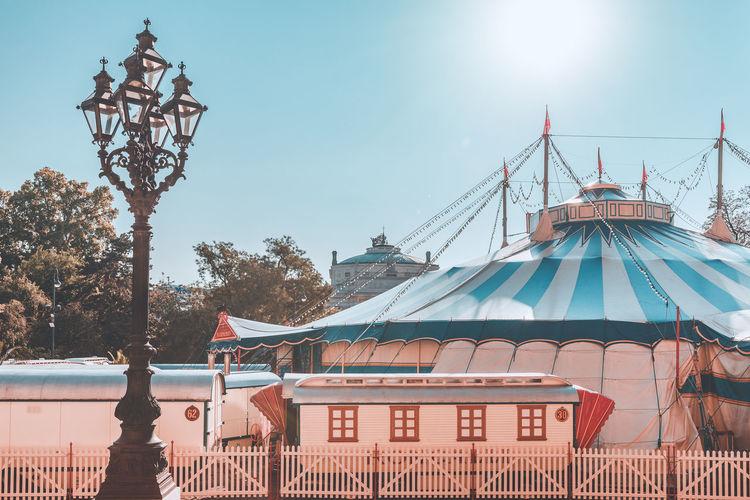 View of amusement park against sky