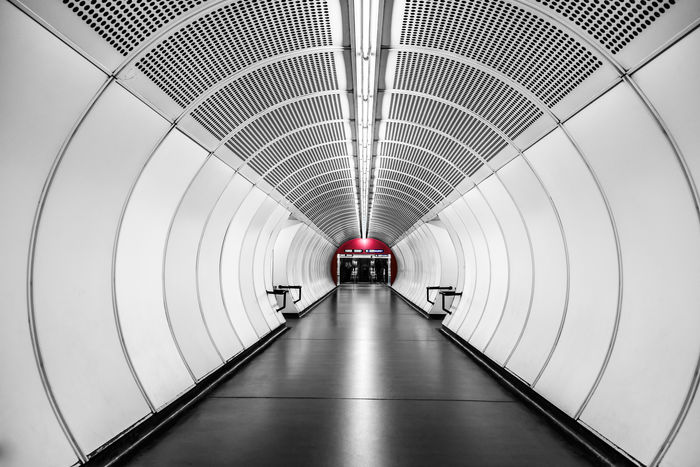 Architecture Built Structure Day Illuminated Indoors  Modern No People Subway The Way Forward Tunnel