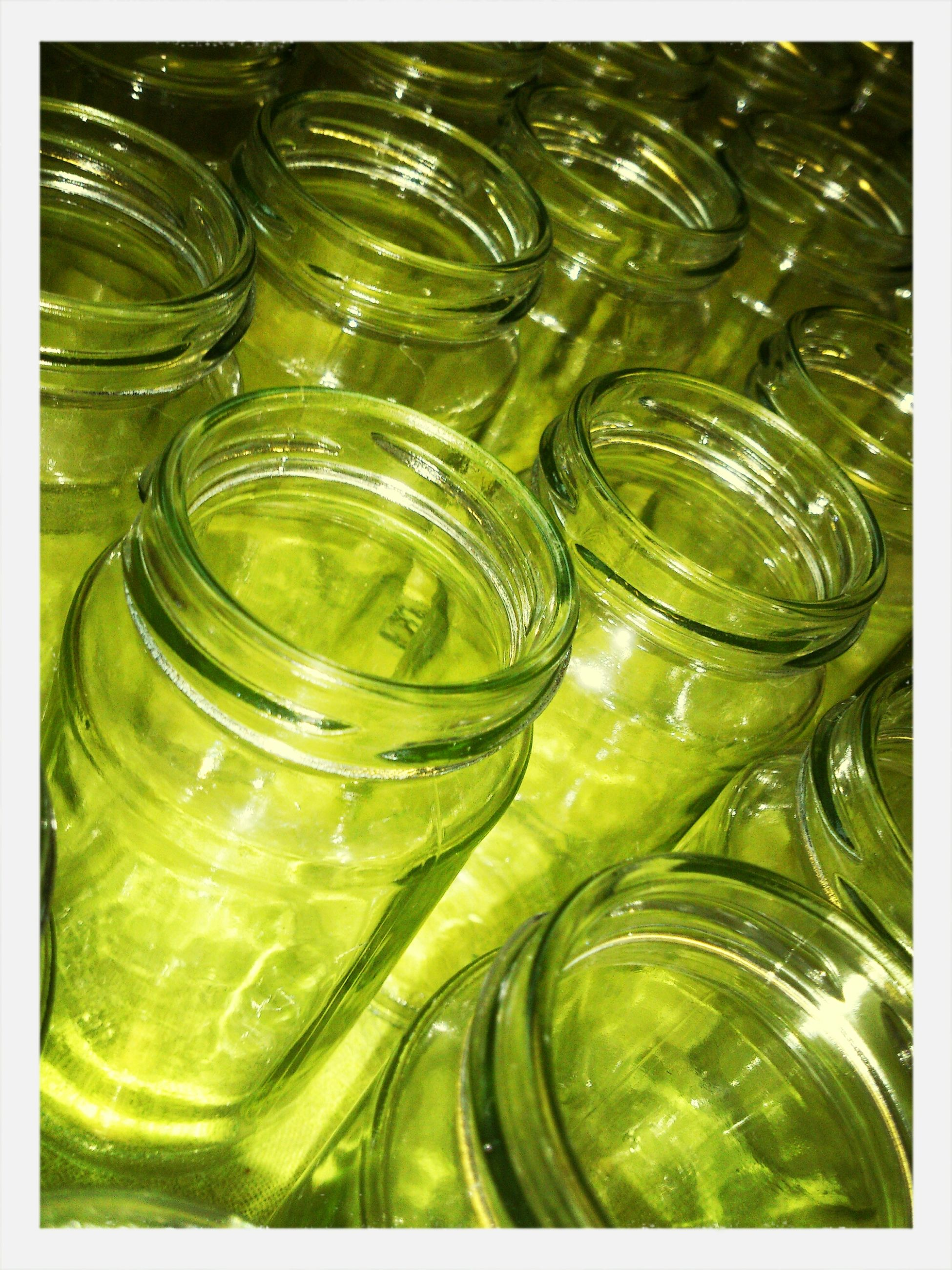 indoors, glass - material, drinking glass, transparent, transfer print, still life, close-up, food and drink, drink, freshness, refreshment, full frame, backgrounds, auto post production filter, glass, large group of objects, bottle, water, jar, abundance