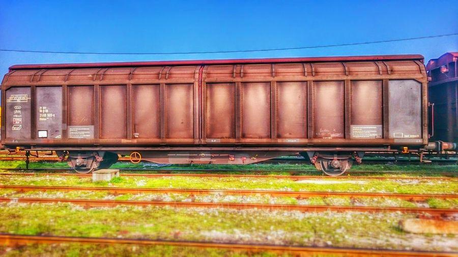 Wagon  Rails Railcar HDR Sky Old Railway Old Railway Station Old Railcar Grass Train