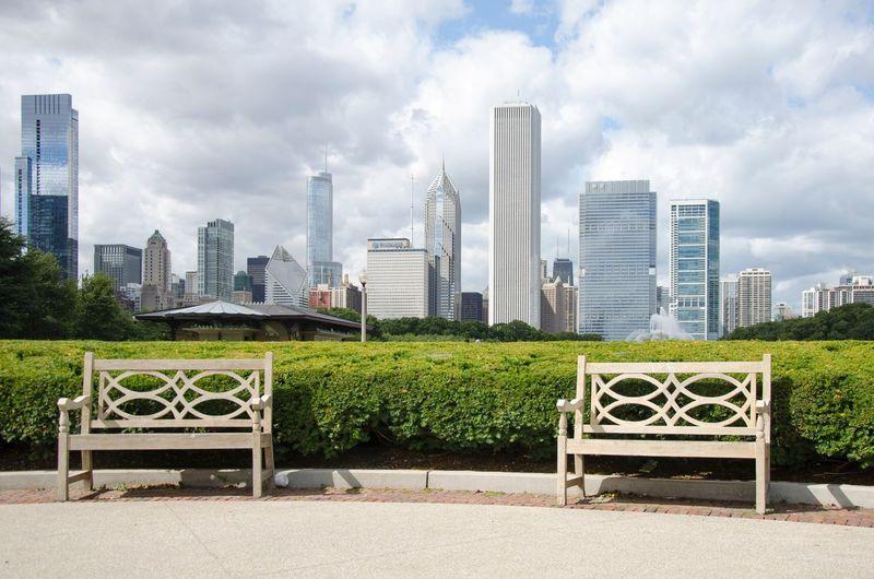 Chicago Architecture Chicago City Life Day Millennium Park Skyscraper Travel Destinations Urban Skyline