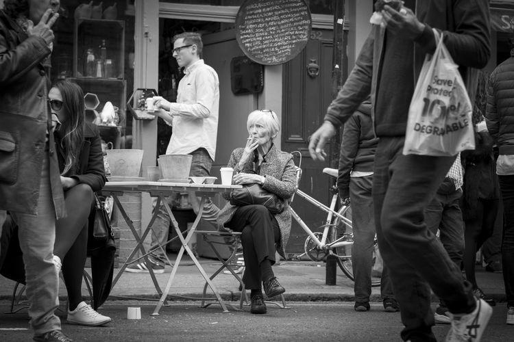 Cafe City Lady London Market Real People Street Photography The Street Photographer - 2017 EyeEm Awards