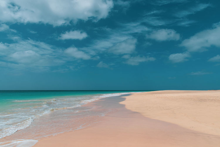 Hoffi99 Beach Life Beach Lifestyle Cape Verde Sea Sky Land Cloud - Sky Water Scenics - Nature Beauty In Nature Tranquility Beach Tranquil Scene Horizon Over Water Horizon Sand Nature Idyllic Day No People Non-urban Scene Remote Outdoors