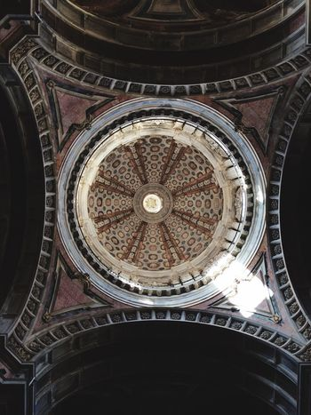 Architecture Low Angle View Indoors  Built Structure Dome Cupola No People Fresco Day