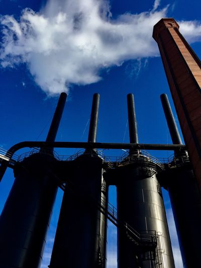 Low Angle View Cloud - Sky Industry Architecture Smoke Stack Outdoors EyeEmBestPics Eye4photography  EyeEm Best Shots EyeEm Gallery EyeEm Best Edits