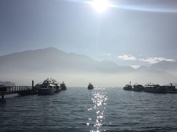 日月潭 朝霧碼頭 Sky Outdoors Nature No People Mountain Boat Travel Lake Sun Moon Lake EyeEm Taiwan