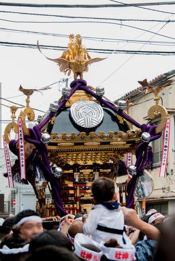 Electric Wire, Shrimp And New Life Festival In Tokyo Downtown 下谷神社大祭2018 御神輿(Omikoshi) 氏子