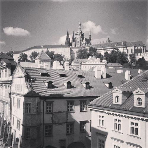 just a usual view from school window Prague Love
